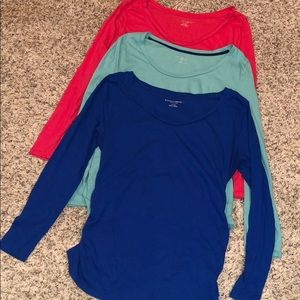 3 Liz Lange Maternity- Long Sleeve Tees
